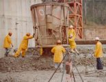 Tallowa Dam (NSW) 1976 – 4.5m3 air operated bucket discharging 150mm size concrete with 50mm slump.